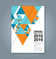 Cover annual report 1136 vector