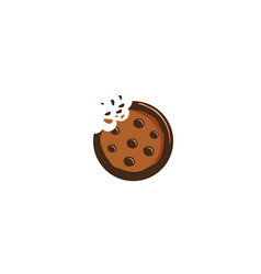 Creative delicious cookie logo vector