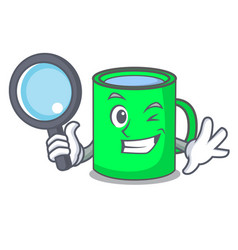 Detective mug character cartoon style vector