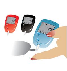 Diabetes control equipment vector