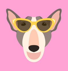 dog face flat style front vector image