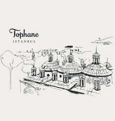 Drawing sketch tophane-i amire vector