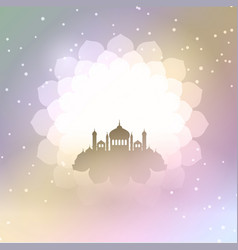 Eid al adha background with mosque silhouette vector
