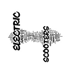 Electric scooter for sale text background word vector