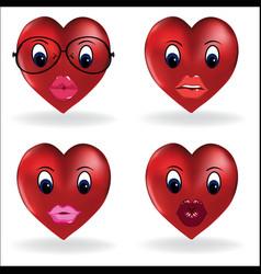 emoji heart smiley lip sexy creator design vector image