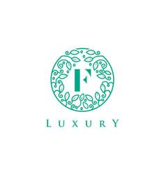 F letter logo luxurybeauty cosmetics logo vector