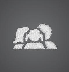Family sketch logo doodle icon vector