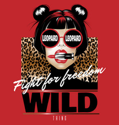 Fight for freedom wild thing hand drawn vector