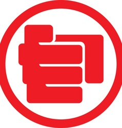Finger point icon vector