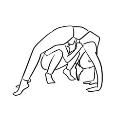 fitness woman doing yoga with instructor vector image