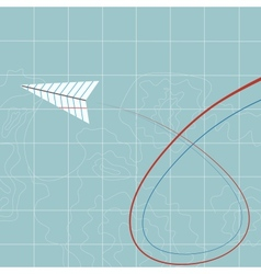 Flying paper plane vector image