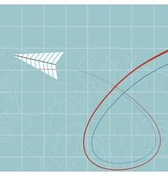 Flying paper plane vector