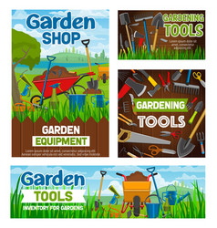 Gardening tools garden agriculture shop vector