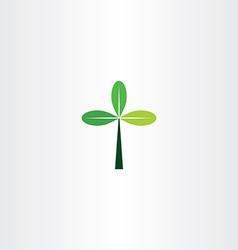 green cross tree leaf eco icon vector image vector image