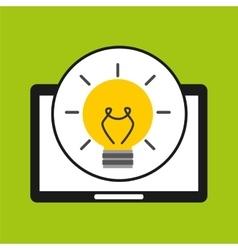 hand holds tablet idea innovation vector image