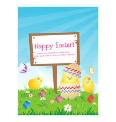happy holiday easter day card vector image