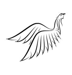 hawk 3 vector image