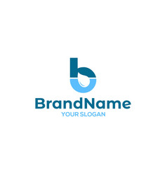 Hb water logo design vector