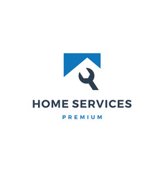 home house service logo icon vector image