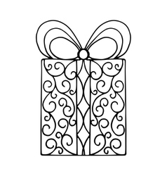 Isolated pattern with floral lace ornament for vector