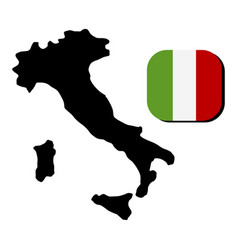 Italy map with flag vector