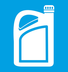 Jerrycan icon white vector