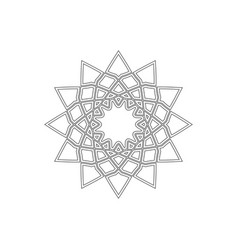 linear geometrical ornament ornamental vector image