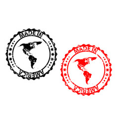 made in america rubber stamp vector image