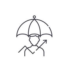management of risks line icon concept management vector image