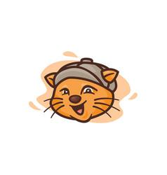mascot cat wearing vector image