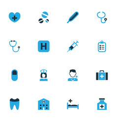 Medicine colorful icons set collection of dope vector