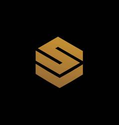 Modern and elegant sv letter initials logo vector