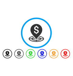 money target rounded icon vector image