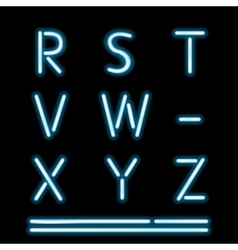 Neon Light Alphabet 3 vector