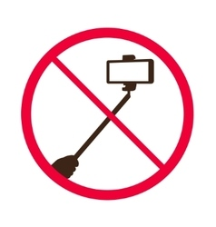 No selfie sticks Do not use monopod prohibited vector image