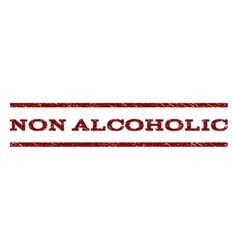 Non Alcoholic Watermark Stamp vector