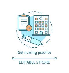 Nursing practice concept icon vector