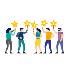 People are holding stars over the heads vector