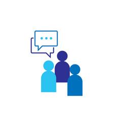 people icon social talk network group logo symbol vector image