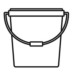 plastic bucket icon outline style vector image