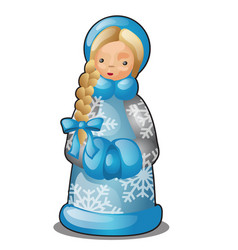 plastic or ceramic figurine in form snow vector image