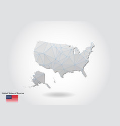 Polygonal united states map low poly design map vector