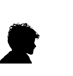 Portrait a child silhouette kid head profile vector