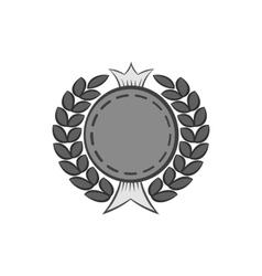 Premium quality round label icon monochrome style vector image