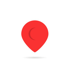 Red abstract geotag or map pin icon vector
