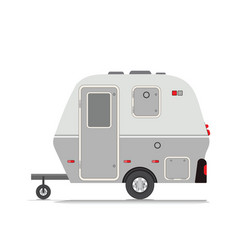 Retro camper trailer collection vector