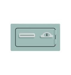 Safe metal box safety business box cash secure vector