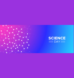 science day molecule modern concept web background vector image