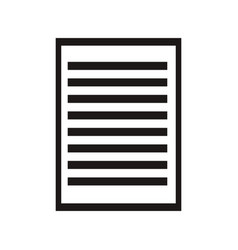 Sheet paper document file icon vector