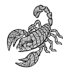 Stylized Scorpion zentangle vector image